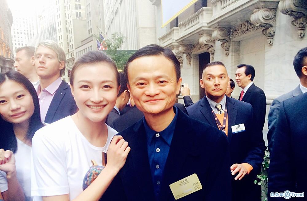 谁是淘宝最大腕的模特:轻熟 女何宁宁马云李连杰华尔街合影