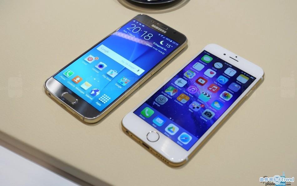 三星GalaxyS6区别对比苹果iPhone6Plus