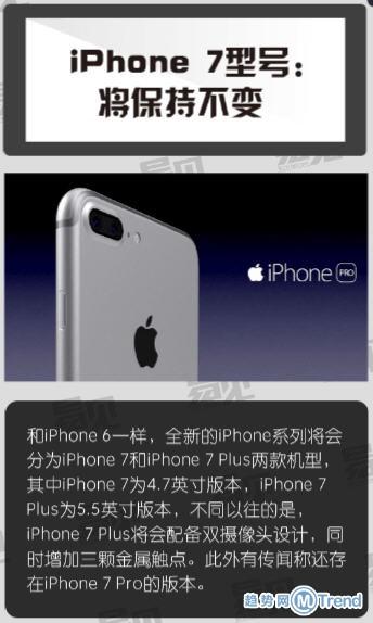 苹果iPhone7对比区别iPhone6s 苹果7十大新亮点