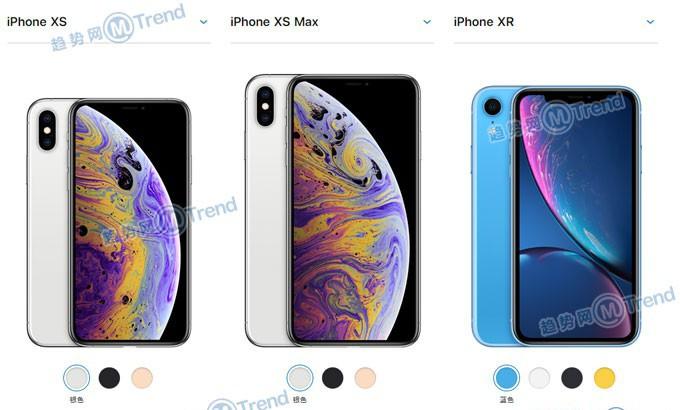 苹果XR XS XsMax哪个好?iPhoneX系列配置图参数表大对比