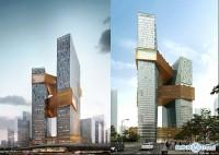 腾讯新总部深圳南山滨海大厦封顶:马化腾刘炽平现身