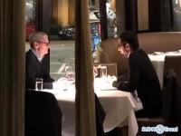库克和谷歌CEO皮查伊共进晚餐被偷拍