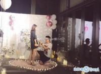 王健林卖掉万达广场 王思聪前女友雪梨接受求婚现场图