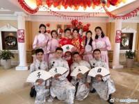 惠若琪和老公杨臻博大婚 现史上最惨伴郎团